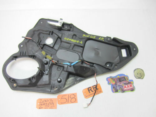 0308 MAZDA 6 PASSENGER SIDE R RH RR BACK REAR DOOR PANEL INNER HANDLE FRAME CAR