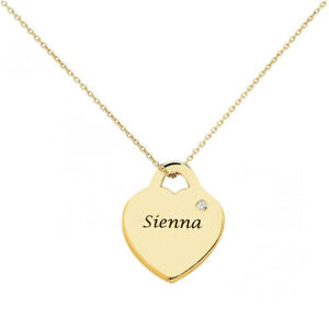 Birthstone-Personalized-Heart-Pendant-Necklace-in-Yellow-gold-plated-Silver