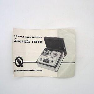 60er-anni-originale-manuale-d-039-uso-Simonetta-TB-12-stato-vedere-immagini
