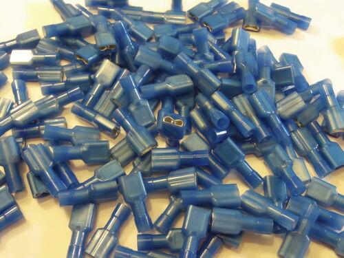6.3 azul completamente aislado Conector Hembra de horquilla Crimp Panduit 25 50 100 Pack