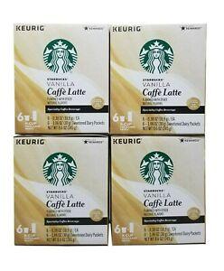 Starbucks Keurig Vanilla Caffe Latte 24 K-Cup Pods Expiration June 2020