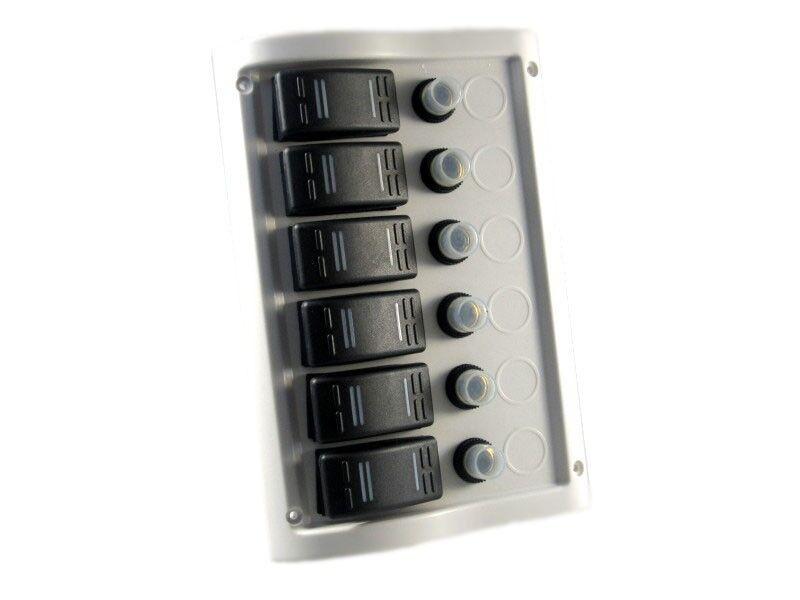 Schaltpaneel Schalttafel mit 6 Schaltern Schaltern Schaltern weiß NEU 6503 405eda