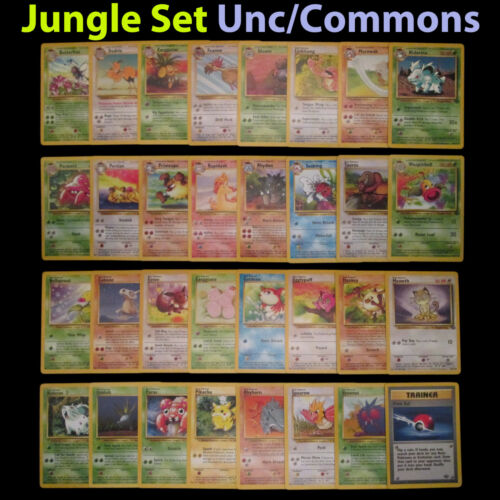 NM Unlimited COMPLETE Pokemon JUNGLE 32-Card Uncommon//Common Set//64 Butterfree