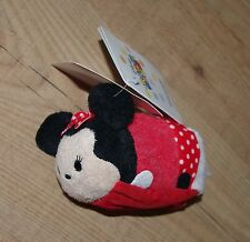 DISNEY Store Minnie Mouse TSUM TSUM Peluche Roll-Up Shopper Borsa Giocattolo Morbido
