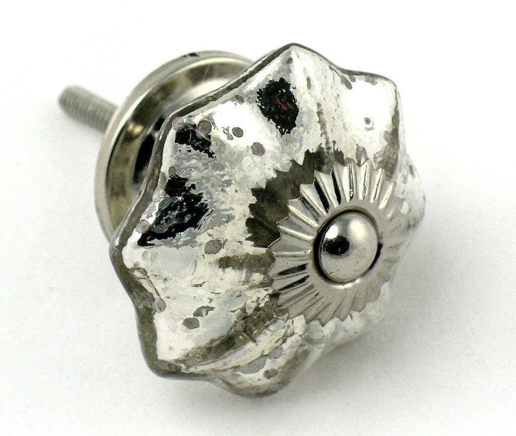 Mercury Glass Knobs, Kitchen Pulls or Cabinet Drawer Handles Hardware K5-LOT 12