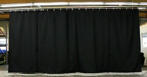 Black Stage Curtain/Backdr<wbr/>op/Partition, 10 H x 25 W, Non-FR