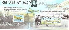 Isle of Man-Britain at War Min sheet -Churchill-Warplanes-Aviation-ships mnh