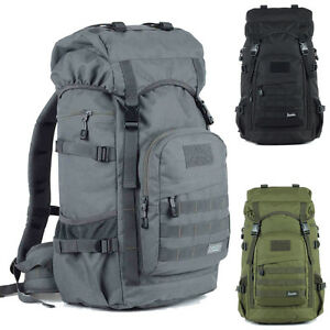 78e9158fd2e7 Men Women 50L Large Travel Outdoor Backpack Rucksack Sports Hiking ...