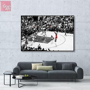 dd651ad7bcd Canvas print wall art photo big poster Michael Jordan Last Shot nba ...