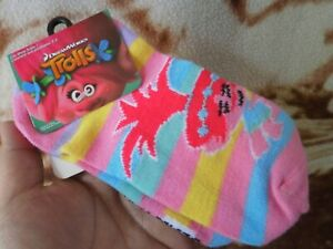 CLOSEOUT-SALE-From-USA-Trolls-Girl-039-s-1-Pair-Ankle-Socks-size-7-2-2-Pink