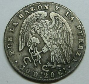 1845-CHILE-2-REAL-SANTIAGO-SILVER-BEAUTIFUL-SCARCE-SILVER-COIN