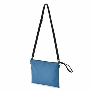 Muji Moma Japan Sacoche Polyester Shoulder Bag Water Repellent Smoky Blue Ebay
