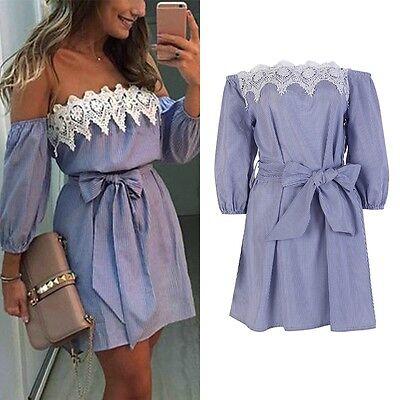 New Women Summer Beach Dress Casual Sleeveless Evening Party Short Mini Dress