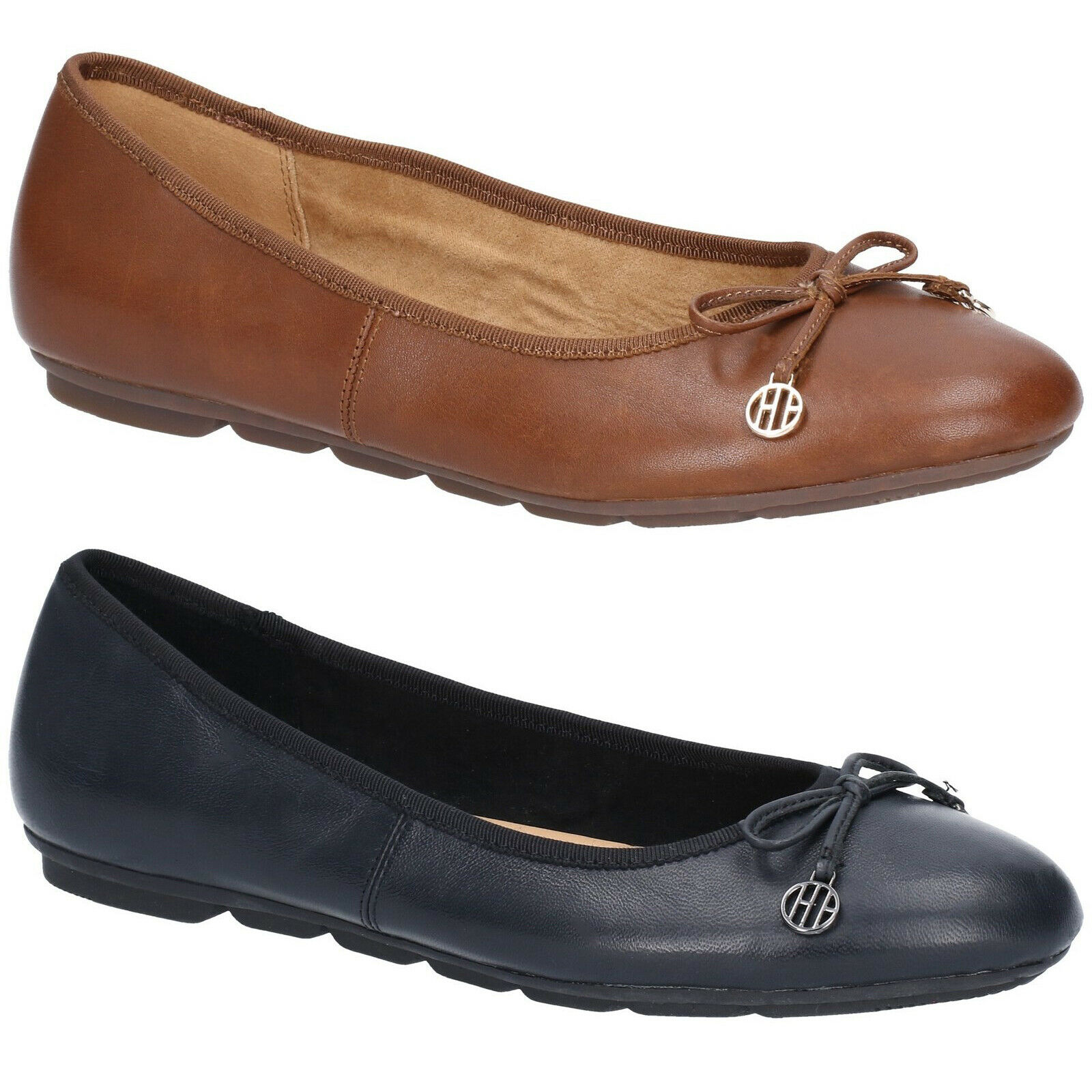 Hush Puppies Abby Bow Ballet Leather