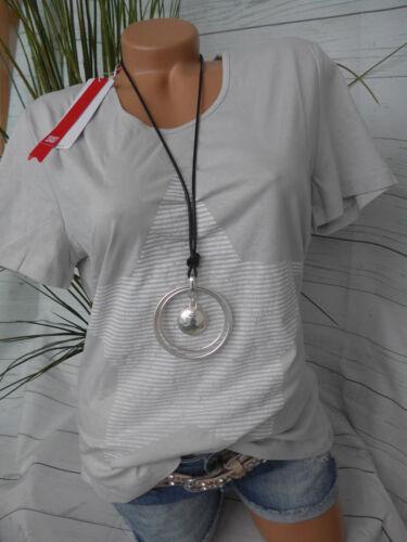 NEU 604 40//42 Kurzarm mit Grau mit Stern Sheego Shirt Gr