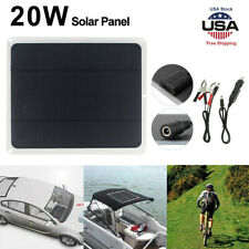 20w 12v Solar Panel Trickle Battery Charger Power Supply Outdoor Car Boat Yacht