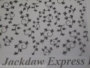25-Sheets-A4-100gsm-Printed-Vellum-Ivy-Design-Black-AM508