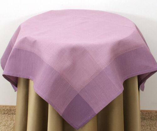 Tischtuch Tischdecke 150x220 140x180 Violett Polyester Uni Einfarbig Leinen Opti