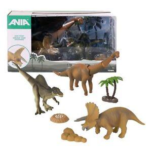 2019 Nouveau Style Nouveau Ania Dino Stomp Dinosaure Figurine Pack Triceratops Brachiosaurus Officiel Renforcement Des Nerfs Et Des Os