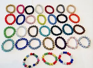 STRETCH-PAVE-CRYSTAL-FRIENDSHIP-BRACELET-20-x10mm-BEADS-CRYSTALS-24-COLOURS