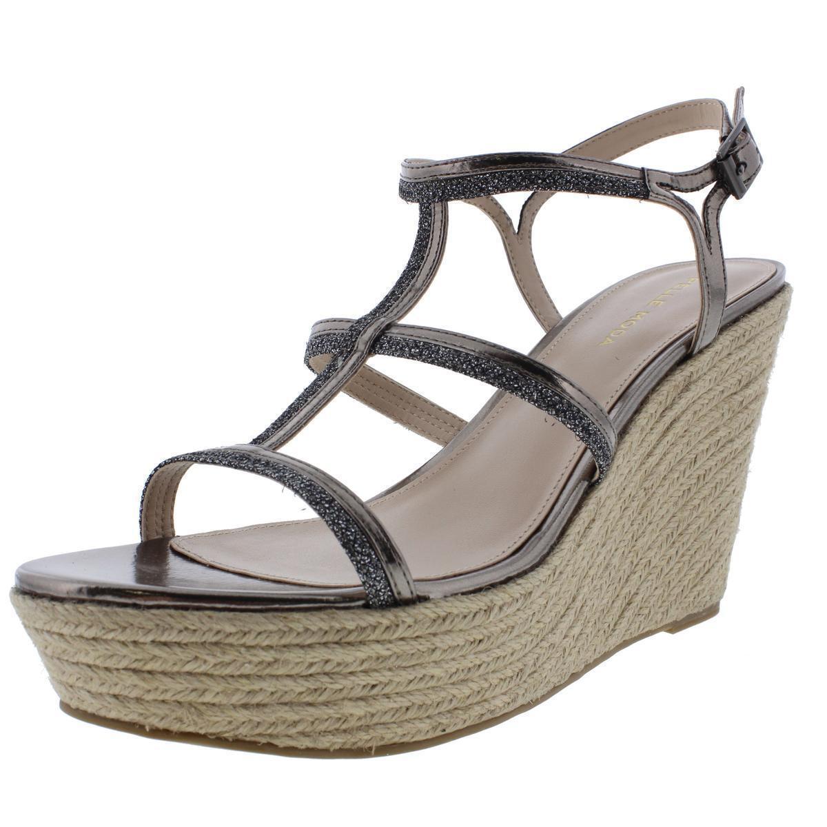 Pelle Wedge Moda Women's Cora Metallic Wedge Pelle Sandals Shoes 8.5 Medium (B,M) 10fa7b