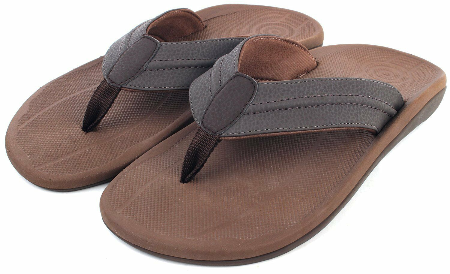 ebb269f3a22a Comforthotics® Comforthotics® Comforthotics® Men s Fred Brown Summer Flip  Flop Sandal Orthotic Arch Support f85afe