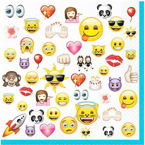 Image Is Loading EMOJI LUNCH NAPKINS 16 Birthday Party Supplies IPhone
