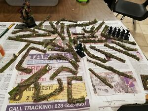 Details about Miniature Wargaming terrain, Bushes On Flexible Base Aos  Warhammer Flames Of war