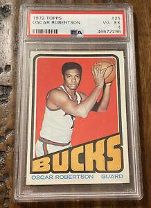 1972 TOPPS OSCAR ROBERTSON #25 PSA 4 VG-EX - New Slab -  Milwaukee Bucks