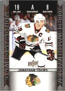 2019-20 Upper Deck Tim Hortons Game Day Action Jonathan Toews ! #HGD-8  NM-M