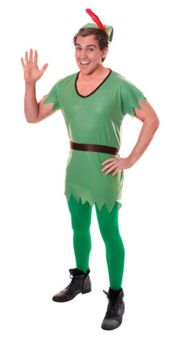 Unisex Peter Pan Fancy Dress Costume Neverland Robin Hood Christmas Elf Outfit