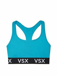 d72bbcd65cda7 Details about Victoria's Secret VSX Logo The Player Racerback Sports Bra  Aqua Blue S,L