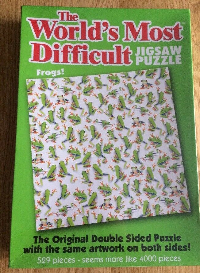3 New World's Most Difficult Jigsaws Frogs  2008 Sweet Shop 2004 & Balloons 2006