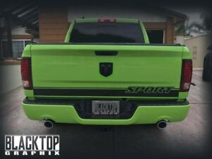 Image Is Loading Ram 1500 Sport Tailgate Stripe Decal Hemi Dodge