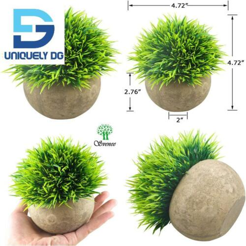 Plastic Fake Green Grass Faux Greenery Topiary Sh Details about  /Svenee Mini Artificial Plants