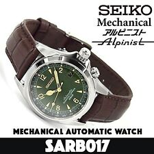Seiko Alpinist Men's Automatic Watch - Brown/Green (SARB017)