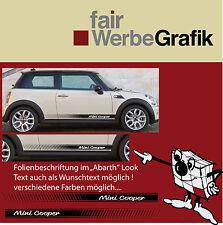 Aufkleber/ Sticker/ Seitenbeschriftung / Dekor/ Mini Cooper / #091