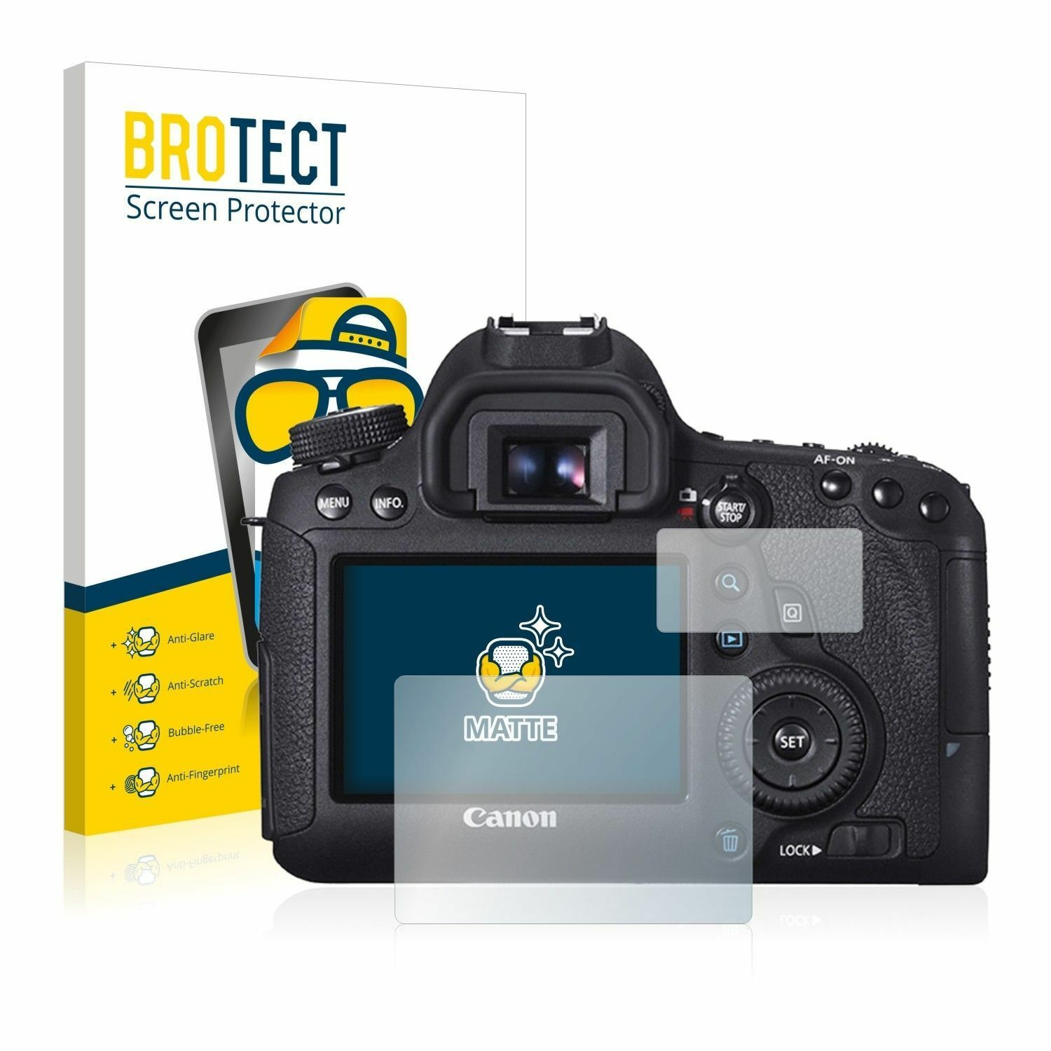 ANTI-GLARE SEMI-MATTE SCREEN PROTECTOR MM 5H CANON EOS 5D MARK 2 II MK2 for2LCDs