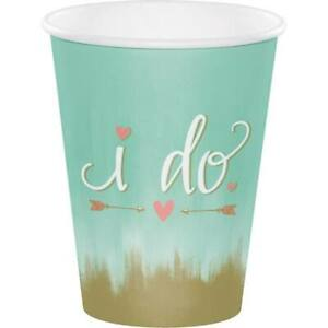 Mint To Be 12 Oz Hot Cold Paper Cups 8 Pack Bridal Shower Wedding Decoration 39938417772 Ebay
