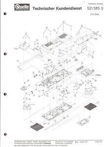 Quelle Universum Privileg Original Service Manual Fur 5215850 Ctr