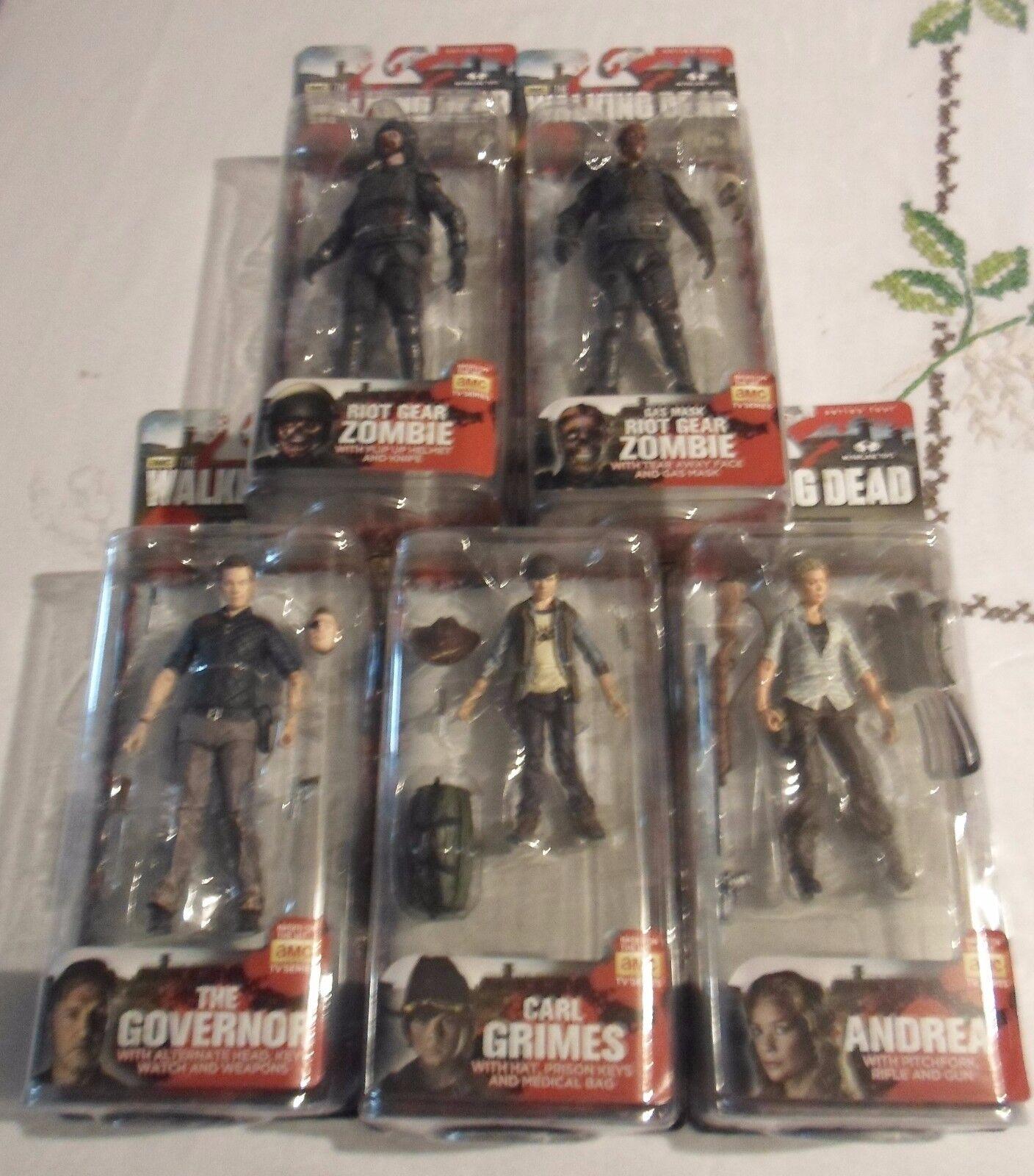 McFarlane Walking Dead TV Series 4 Complete set, FREE FAST SHIPPING
