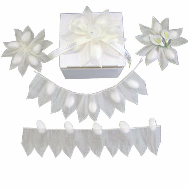 White Star Pull Jordan Almonds Candy Bow Ribbon Decorations Wedding