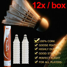 Fafeims 12Pcs//Lot White Feather Badminton High Speed Badminton Shuttlecock for Training