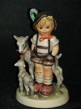 """Goebel Hummel 200/0 """"Ziegenbub"""", little goat herder, Junge mit zwei Ziegen"""