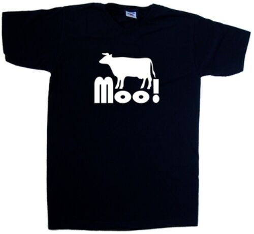 Cow Moo Funny V-Neck T-Shirt