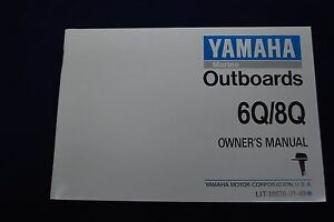 Yamaha 6hp 8hp q ownersoperators manual outboard lit 18626 01 40 ebay image is loading yamaha 6hp 8hp q owners operators manual outboard publicscrutiny Choice Image