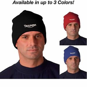 44441be8b25 Triumph Motorcycle Logo Ver 2 OSFA Adult Knit Hat Beanie Cap Avail ...