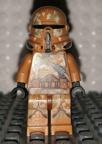 LEGO STAR WARS MINI PERSONAGGIO CLONE TROOPER Officer Marrone Chiaro Da Set 75089