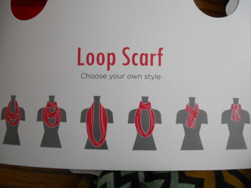 Polyester Infinity Loop Brown Geometric Scarf SR$18 NEW Manhattan Scarf Co