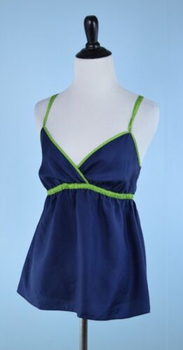 Green Blouse 100 Blue Strap Crew 4 Lime Size Top Silk 228 Sleeveless J Detail qv6ITwRq